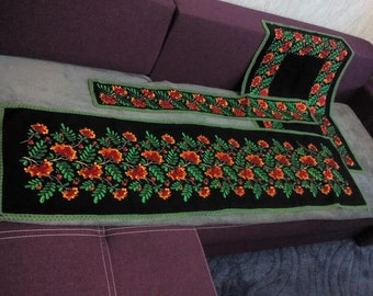 Vintage textile decoration for the piano