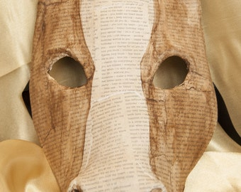 Venetian-Style Decoupage Horse Mask