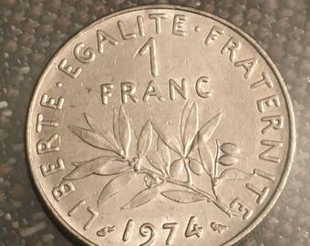 1974 France 1 Franc Coin