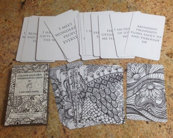 ONE CARD Colour Your Own Affirmation Cards
