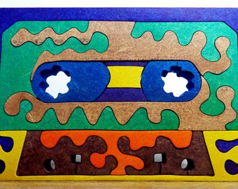 Puzzle of wooden KCT (Cassette)