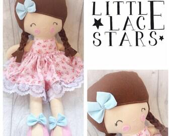 Handmade doll, ragdoll, modern doll, soft bodied doll, soft doll, large doll