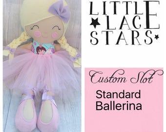 Custom Slot, ballerina doll, soft bodied doll, large doll,
