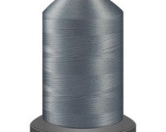 light grey thread , glide trilobal polyester no 40, Tex 27, sewing thread, quilting thread, 1000m cone, polyester thread, 40 weight thread