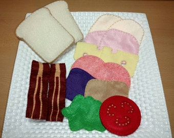 Interactive Felt Food Sandwich Set