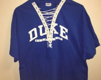Duke University Lace up tee