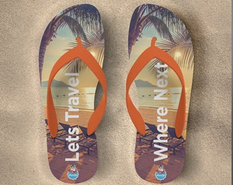 Holiday  Lets Travel Flipflops