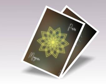 Mandala Yoga Art Solar Plexus Chakra, Printable Yoga Art for Home, Mandala Chakra Art Digital