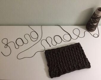 Crochet neckwarmer Bark
