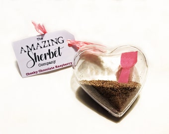 Chocolate Raspberry Sherbet heart decoration