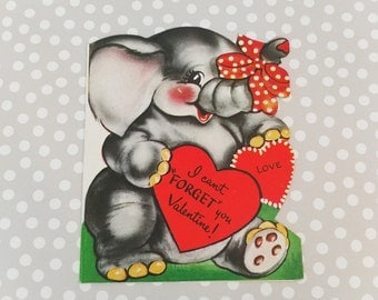 2 Vintage Valentine Cards//Valentine's Day Greeting Card Lot//Scrapbook Paper//Embellishment//Vintage Ephemera