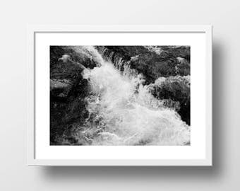 Water on Rocks Texture Abstract Art Print // Aqueous-3