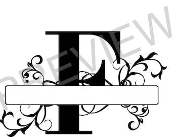 Split Monogram SVG, Letter F Regal Split Alphabet, Vector Files for Silhouette,  Silhouette Studio, PNG file, Ready to Cut, Cricut