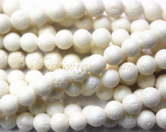 White Coral Beads, 6mm 8mm 10mm 12mm Full Strand 15.5 inches, Gemstone Beads, Beading Suppliers, Jewelry Suppliers