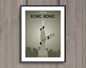 KING KONG, minimalist movie poster