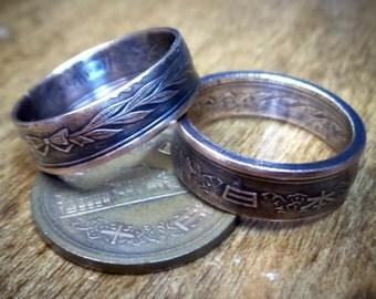 Japanese Ten Yen Coin Ring