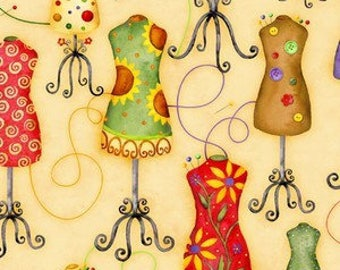 Cotton Fabric Quilting Colorful Dresses