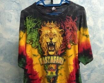 FREE SHIPPING!!!Vintage 90's Rastafari Shirt size Extra Large