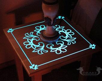 Glow In The Dark Resin glow table glow in the dark table custom epoxy resin end
