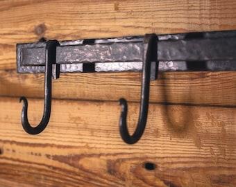 Items similar to pot rack mid century reclaimed wood for Reclaimed wood pot rack