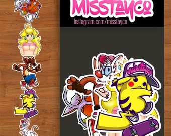 Mixed pack of stickers (5pcs)