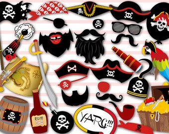 Printable Pirate Photo Booth Props, Pirate Party Photobooth Props, Instant Download Pirate Birthday Party Photo Booth Props 0020