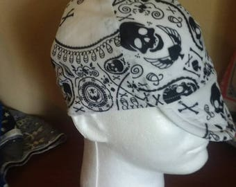 JBT Custom Welding Cap - Teardrop Skulls and Crossbones