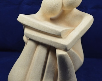Valentines Gift - Cycladic Art - Large Lover Figure - Handmade in Greece