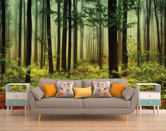 Forest Wall Mural, Forest Wallpaper, Forest, Tree Wall Mural, Tree Wallpaper, Nature Wall Mural, Nature Wallpaper, Forest Wall Covering