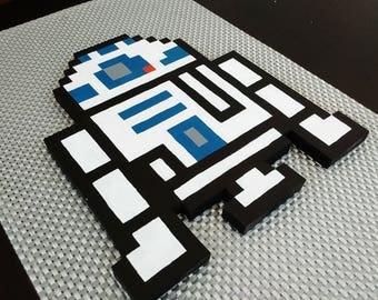 R2D2 Star Wars 3D Pixel Art
