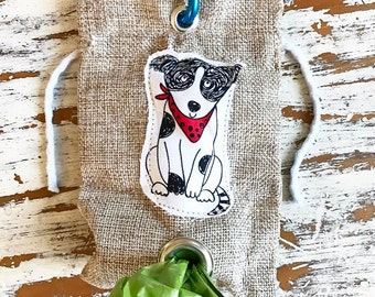 "Character dog treat bag or dog waste carrier bag  4"" X 6"""