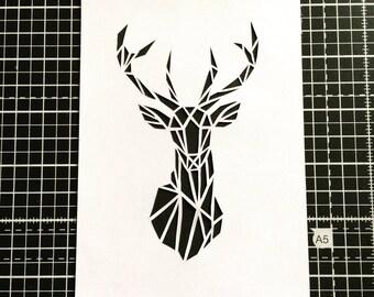 Geometric Stag Papercut