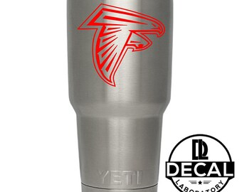 Yeti Decal Sticker - Atlanta Falcons Decal Sticker For Yeti RTIC Rambler Tumbler Coldster Beer Mug