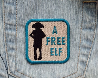 House Elf, A Free Elf Iron-on Embroidered Patch
