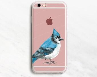 Blue Jay iPhone 7 Plus Case Bird iPhone 6 Case Bluebird Case iPhone 7 Case Clear iPhone 6 Plus Case iPhone 6s 6s Plus iPhone 5s SE 5 Case