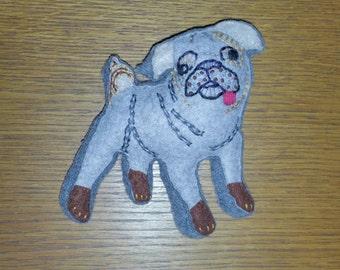 Customised Pug Art Doll