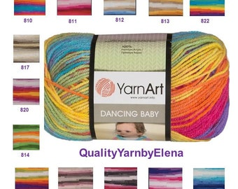 YARN ART Dancing Baby -  Children acrylic- 100g 250m turkish yarn