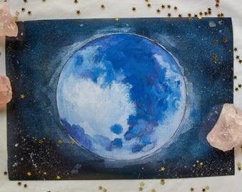 Starry Moon print