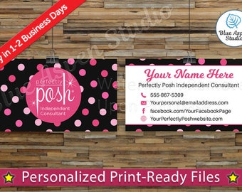 Perfectly Posh Business Cards Printable Digital Printed Personalized Custom Customized Consultant Cards PER-BC102