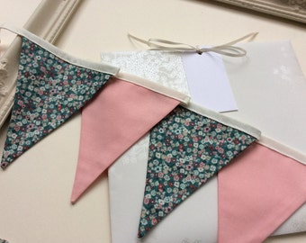 Pink Flower Bunting in a Bag