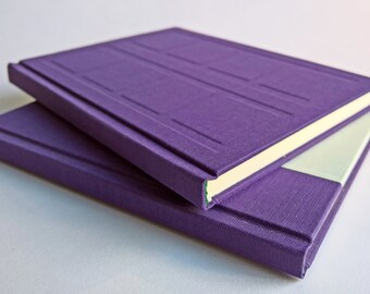 Purple/Mint Door Notebook Set Relief and Paper Cover