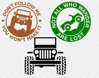 jeep SVG Clipart Cut Files Silhouette Cameo Svg for Cricut and Vinyl File cutting Digital cuts file DXF Png Pdf Eps vector