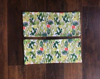 Cactus Burp Clothes, Set of 3