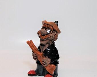 Ceramic Figurine .Vintage  Figurine.Figures with humor.