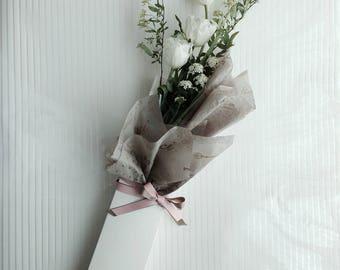 Long stem Flower box_White (60ea/set)