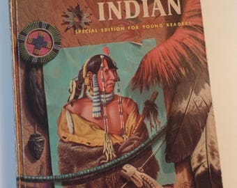 The American Indian Young Readers Edition Golden Press Oliver La Farge 1972 Vintage Golden Book