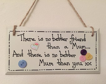 Personalised Wooden Rectangle Plaque, Mother's Day, Mum's Birthday, Mother's Day Gift