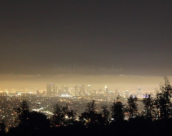 Los Angeles night skyline from Griffith Observatory; LA; California; City photography; bedroom; living room; office