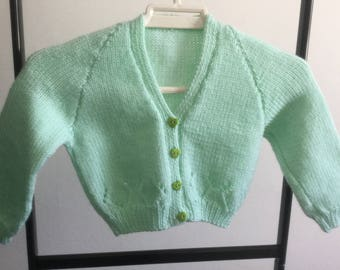Pale Green Toddler Cardigan