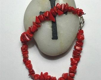 Chunky Red Bracelet